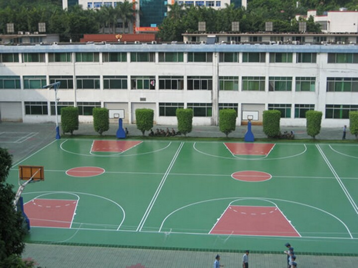 潍坊塑胶地板 山东济南幼儿园塑胶场地 山东塑胶篮球场 潍坊幼儿园